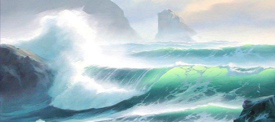 Cours: Peinture à l'huile – La vague