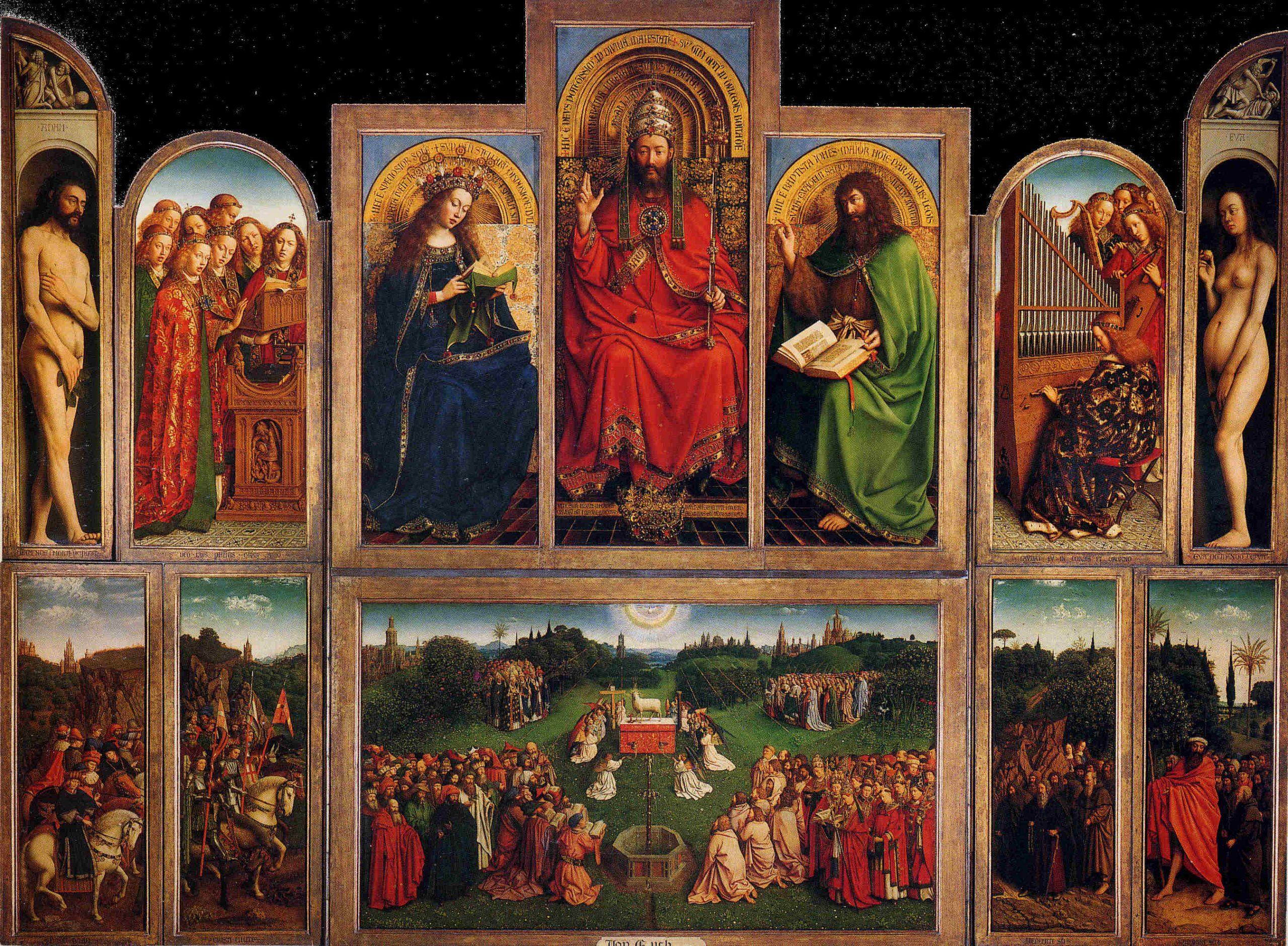 Jan Van Eyck et La peinture à l'huile, Vernis et Médium