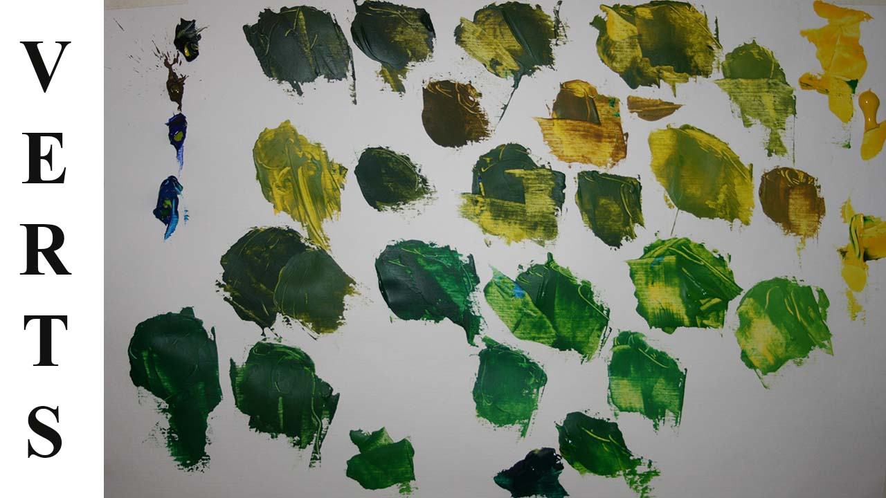 Comment fabriquer des verts, avec des couleurs simples